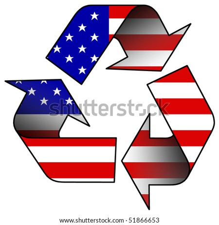 USA recycle logo - stock photo