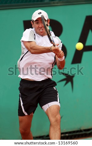 USA's professional tennis player Wayne Odesnik during his match at Roland Garros (French Open). Paris, May 2008.