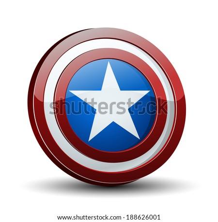 USA Shield - stock photo