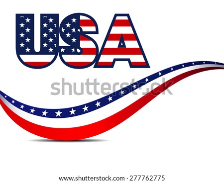 USA Stars and Stripes Background - Raster Version - stock photo