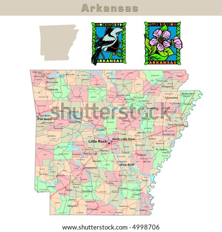 Arkansas Road Map Stock Images RoyaltyFree Images Vectors - Arkansas usa map