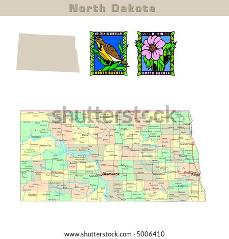 North Dakota Map Stock Images RoyaltyFree Images Vectors - North dakota map usa