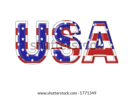 USA symbol. - stock photo