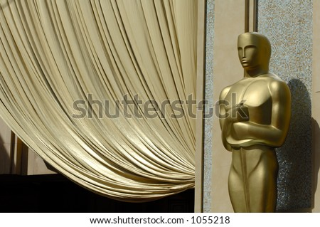 USA 2006 - 78th Annual Academy Awards. Closeup of giant Oscar statue at the entrance of the Kodak Theatre. - stock photo