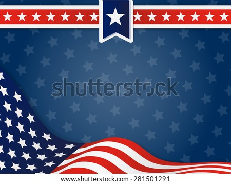 USA, United State Of America Wavy Flag Background, Wavy Flag of the United States
