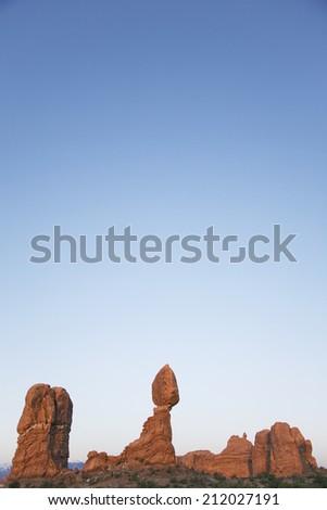 USA, Utah, Balanced Rock at Arches National Park - stock photo
