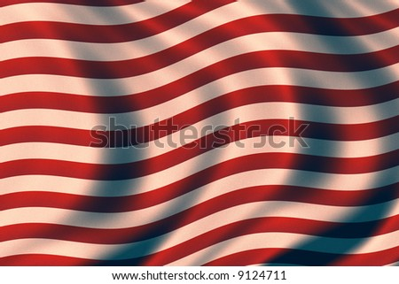 USA vintage patriotic background with waves - stock photo