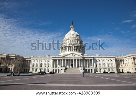 USA, WASHINGTON - OCTOBER17: Capitol Building and area in Washington DC in 2013.