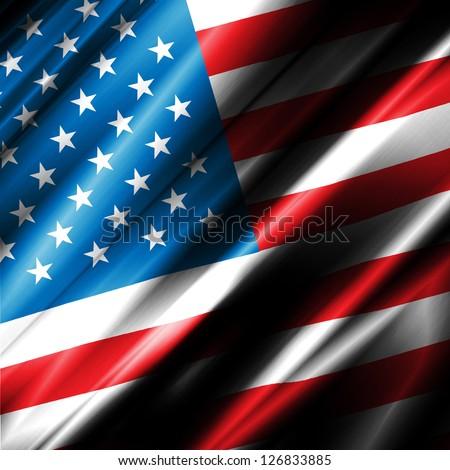 USA Waving Flag - stock photo