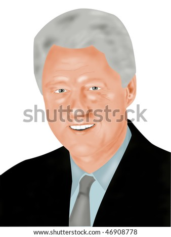 """USA  1993 - 2001: William Jefferson """"Bill"""" Clinton, 42nd President of the United States. After office years involved in humanitarian work. - stock photo"""