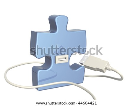 USB cable and part of puzzle