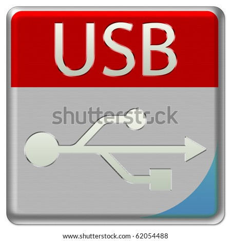 USB Device Icon - stock photo