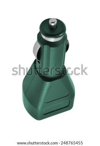 USB electronics device car charger - stock photo
