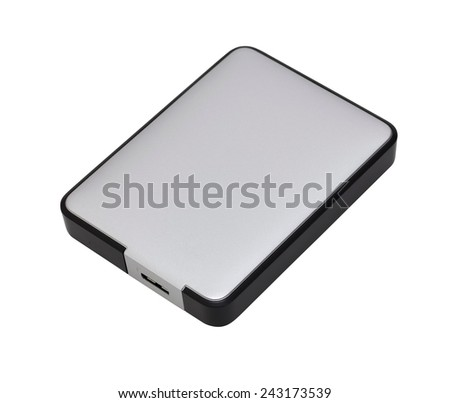 usb 3 external hard disk drive with clipping path - stock photo