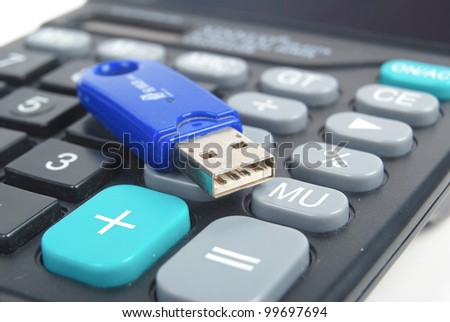 USB flash disk and calculator