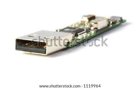 USB Flash inside - stock photo