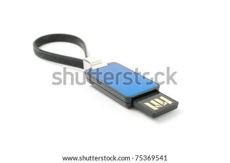 Usb flash memory isolated on white background. - stock photo