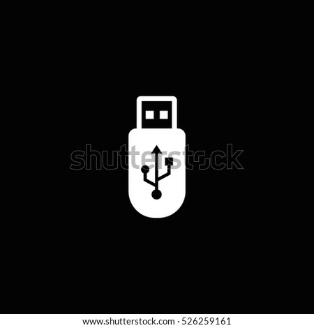 usb icon, isolated, white background