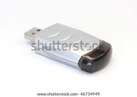 USB IRDA adapter isolated on white