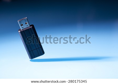 USB memory stick - stock photo
