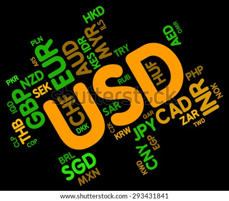 Usd Currency Showing United States Dollar Stock Illustration