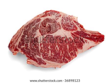 USDA Prime Rib Eye Steak - stock photo