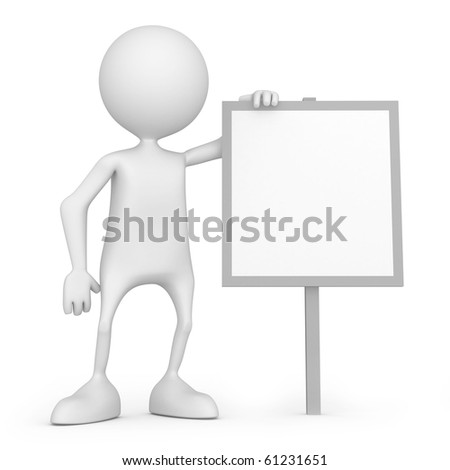 Use correct copy space. 3d image isolated on white background
