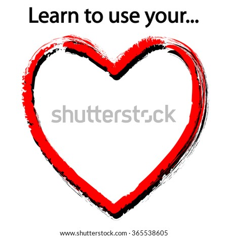 Use heart-background - stock photo