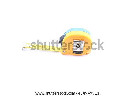 Use the tape measure to measure for size or performance measurements. - stock photo