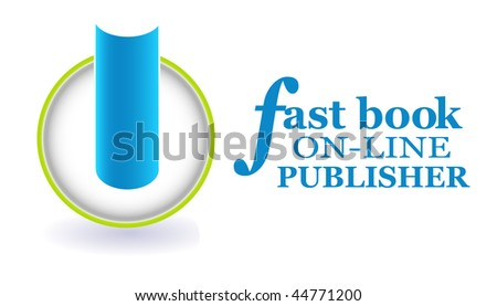 Use this icon for a digital library or ebook on-demand business. - stock photo