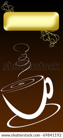 used as a cover for the menu bar or coffee. free space for logo or title - stock photo