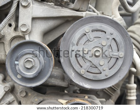 Used car clutch air compressor - stock photo