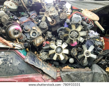 Used Car Engines Parts Old Machine Stock Photo (Edit Now)- Shutterstock