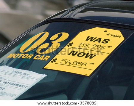 Used Car Lot - stock photo