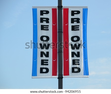 Used car sign at dealership Georgia, USA. - stock photo