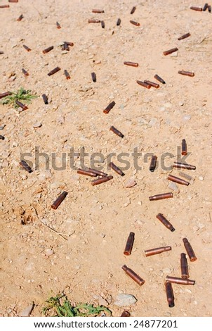 Used cartridge cases - stock photo