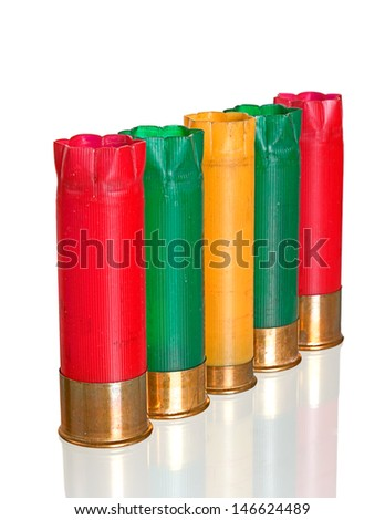 Used cartridges with reflection - stock photo