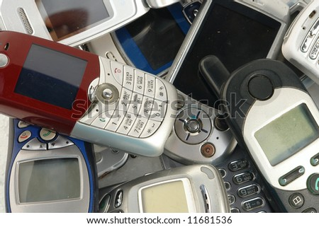 used  Cell phones - stock photo