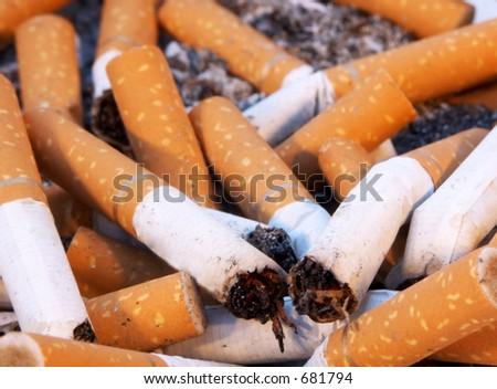 Used Cigarettes - stock photo