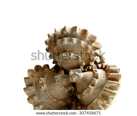Used drilling head for oil or gas mining - stock photo