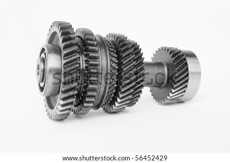 used gear for replace in car engine - stock photo