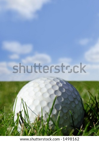 Used golf ball - stock photo
