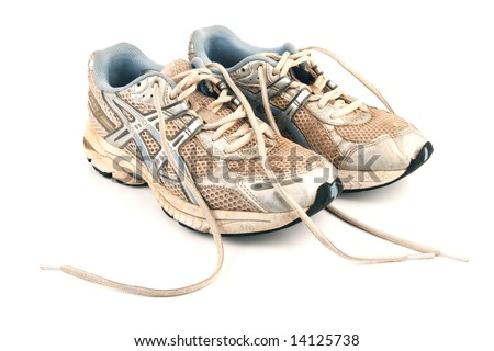 Used jogging shoes - stock photo