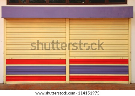 Used metal sheet door shop.