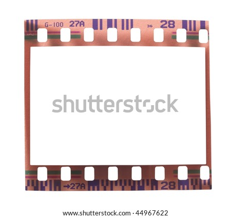 used 35 mm film - stock photo