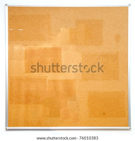 Used office cork board - stock photo