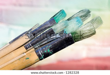 Used Paint Brushes
