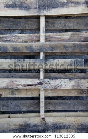 Used pallet closeup - stock photo