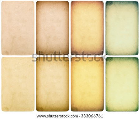 Used paper cardboard with edges isolated on white background. Instagram style toned texture - stock photo