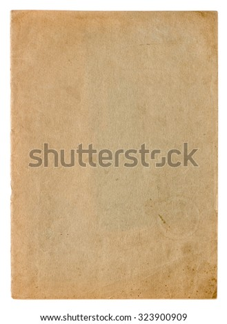Used paper page texture. Vintage cardboard background - stock photo